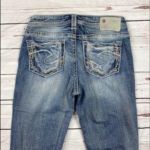 Women's Silver Size 27 Light Aiko Slim Boot Jeans